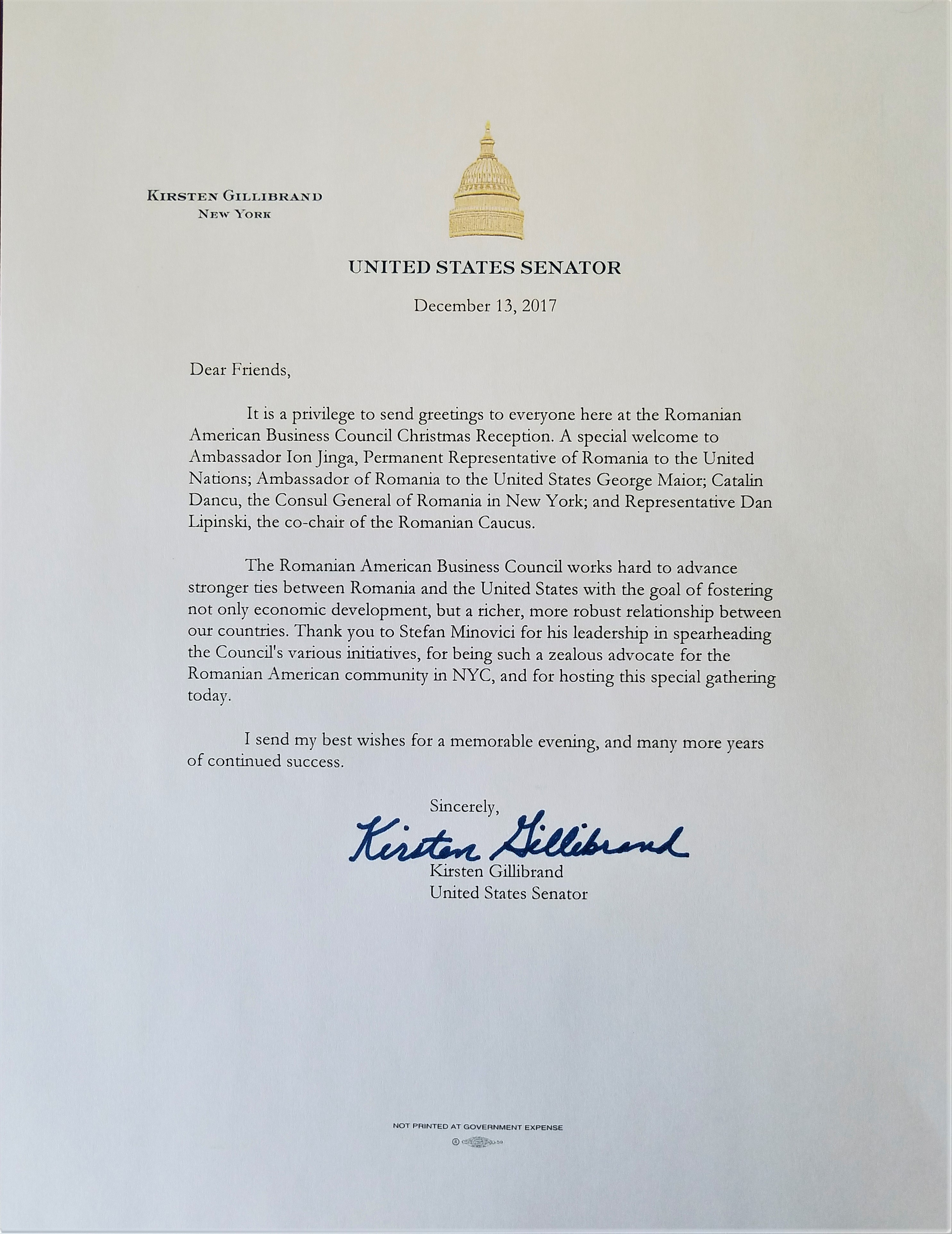 Rabcus letters of support letter gillibrand m4hsunfo