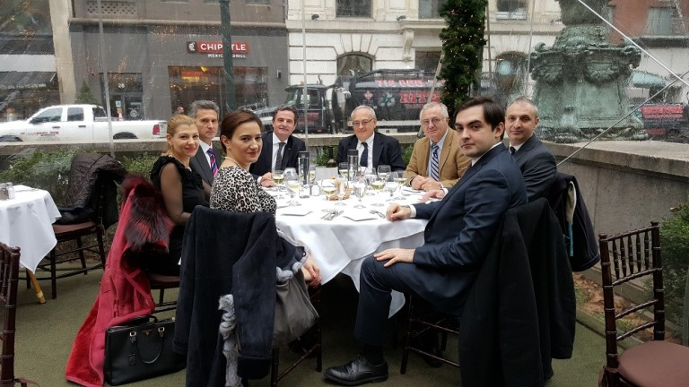 Lunch with H.E. Ion Jinga, Romanian Ambassador to the United Nations, New York